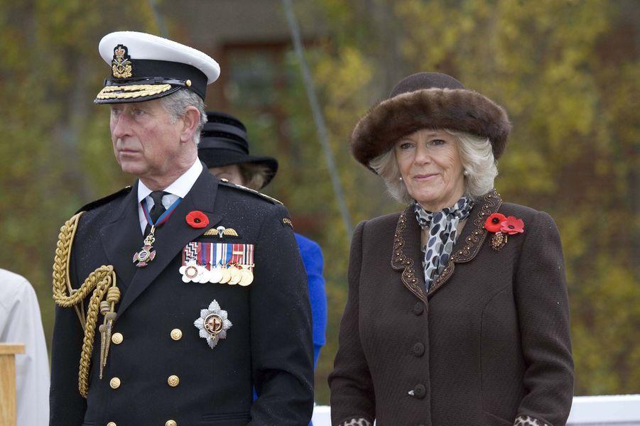 Le prince Charles et la duchesse de Cornouailles Camilla au Canada, le 9 novembre 2009