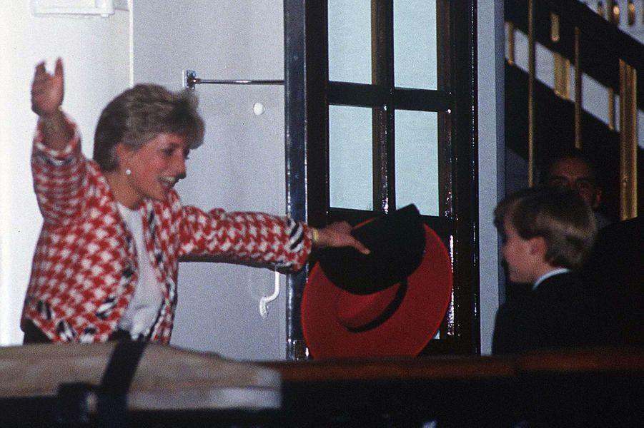 La princesse Diana et son fils le prince William au Canada, le 22 octobre 1991