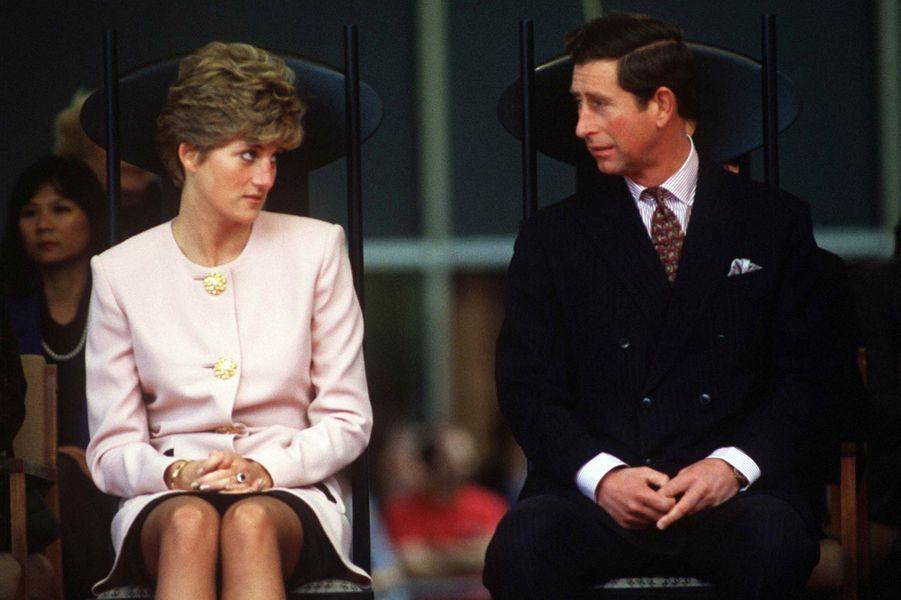 Le prince Charles et la princesse Diana au Canada, le 24 octobre 1991