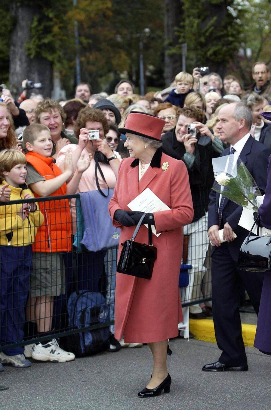La reine Elizabeth II au Canada, le 6 octobre 2002