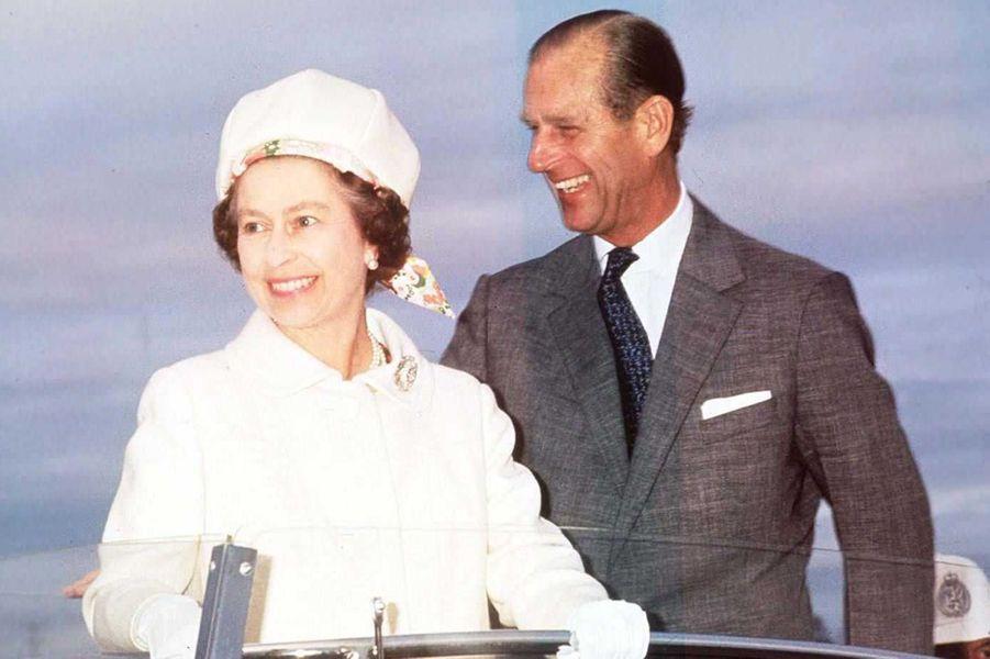 La reine Elizabeth II avec le prince Philip au Canada à l'occasion de son Jubilé d'argent en 1977