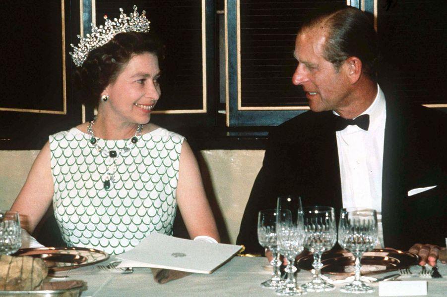 La reine Elizabeth II avec le prince Philip au Canada, le 14 juillet 1976