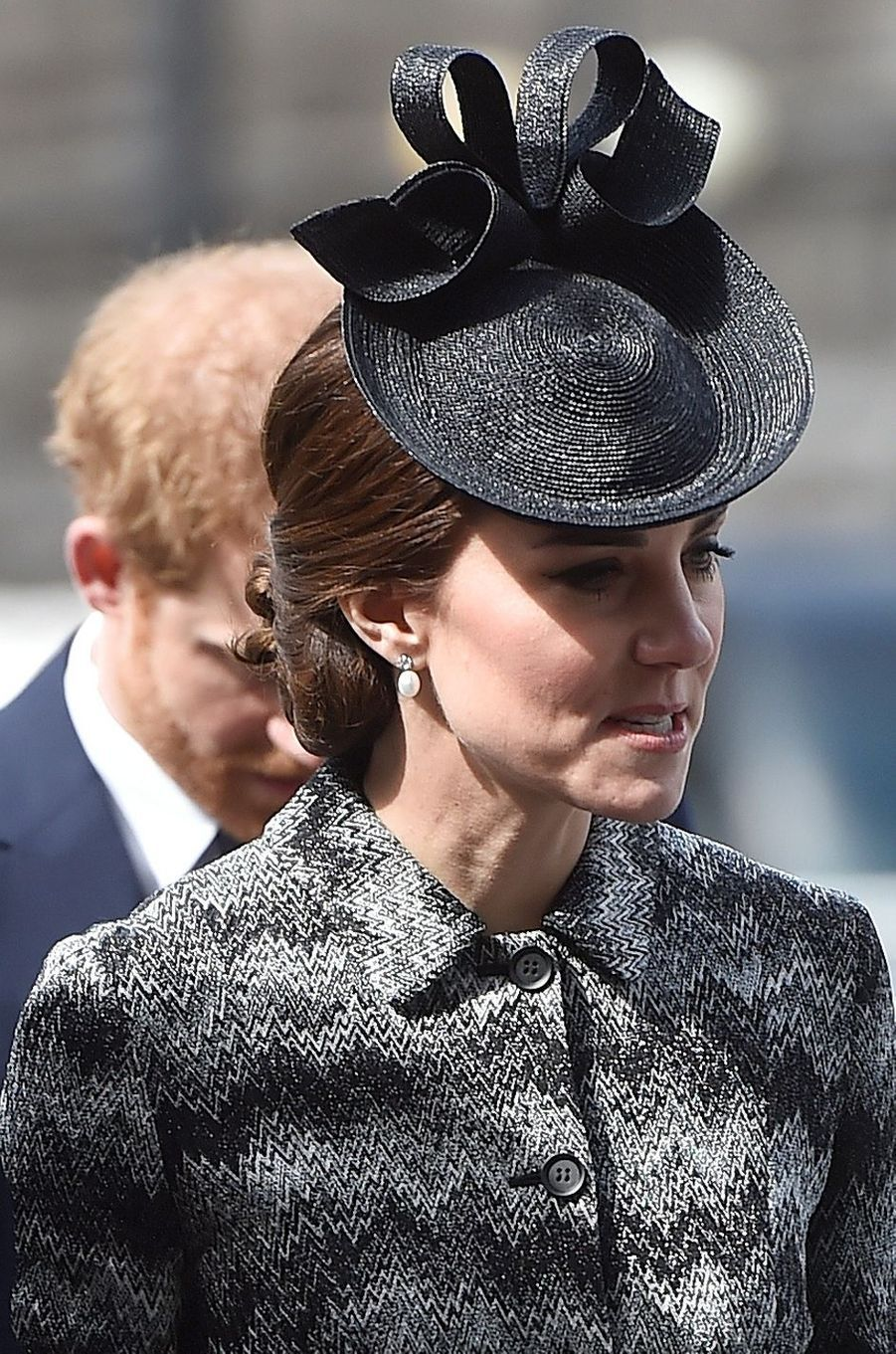 La duchesse de Cambridge, née Kate Middleton, à Londres le 5 avril 2017