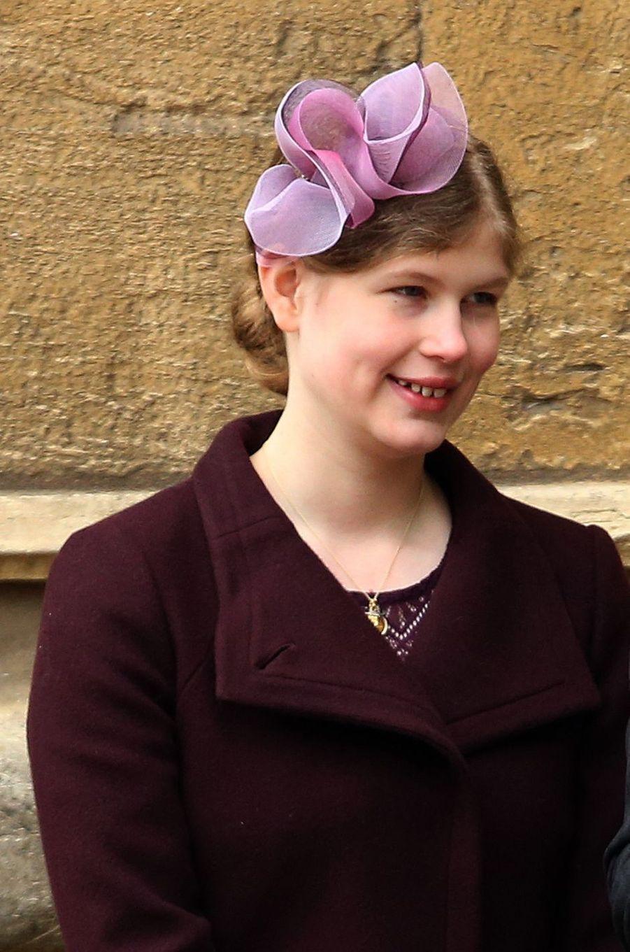 Lady Louise Windsor à Windsor, le 1er avril 2018