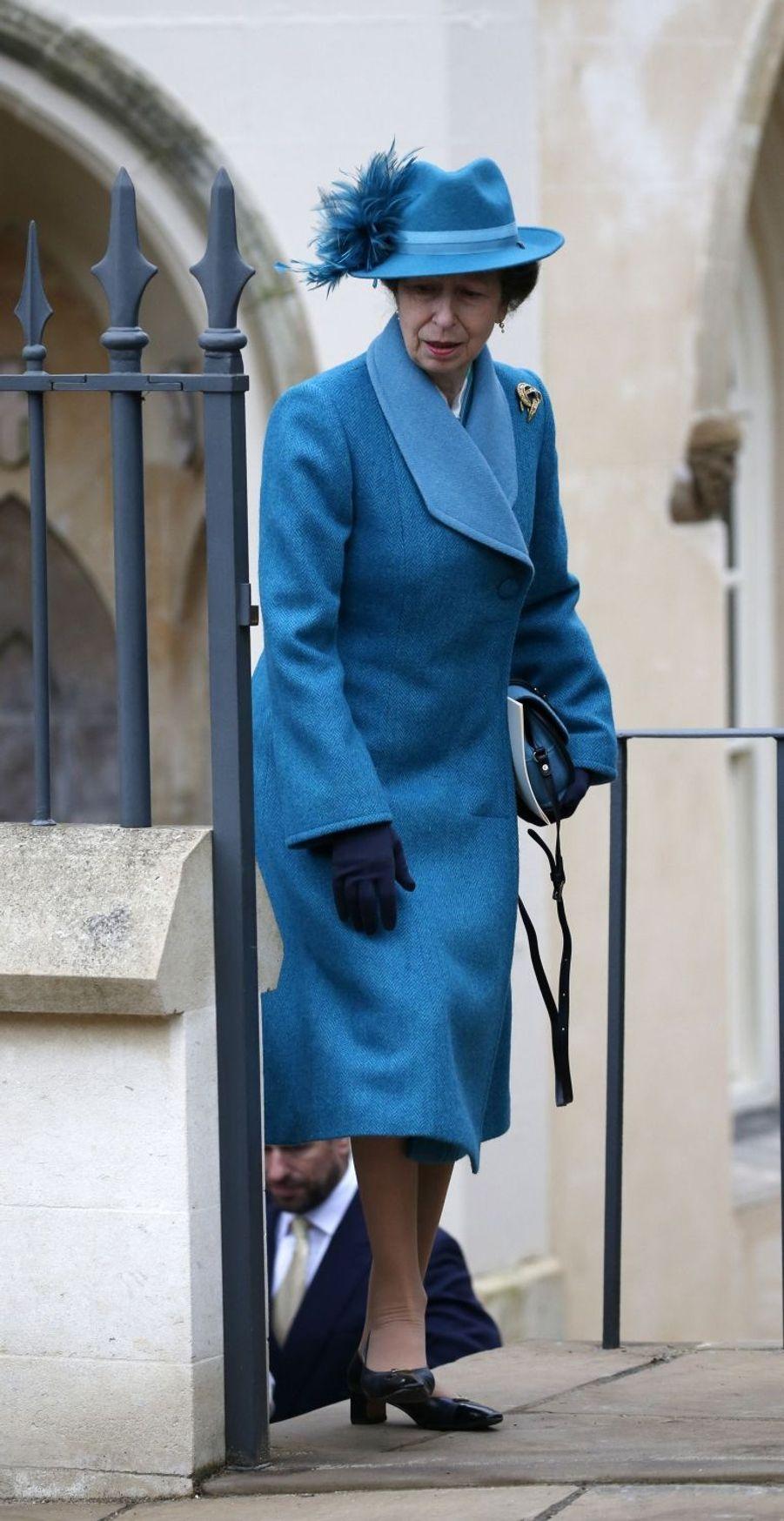 La princesse Anne à Windsor, le 1er avril 2018