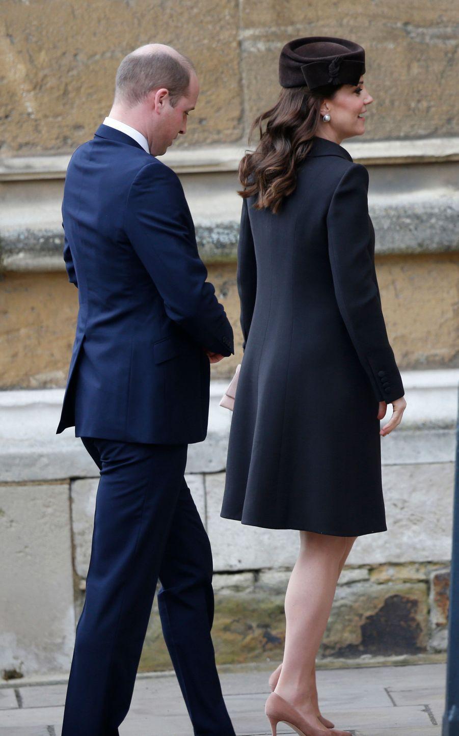 La duchesse Catherine de Cambridge à Windsor, le 1er avril 2018