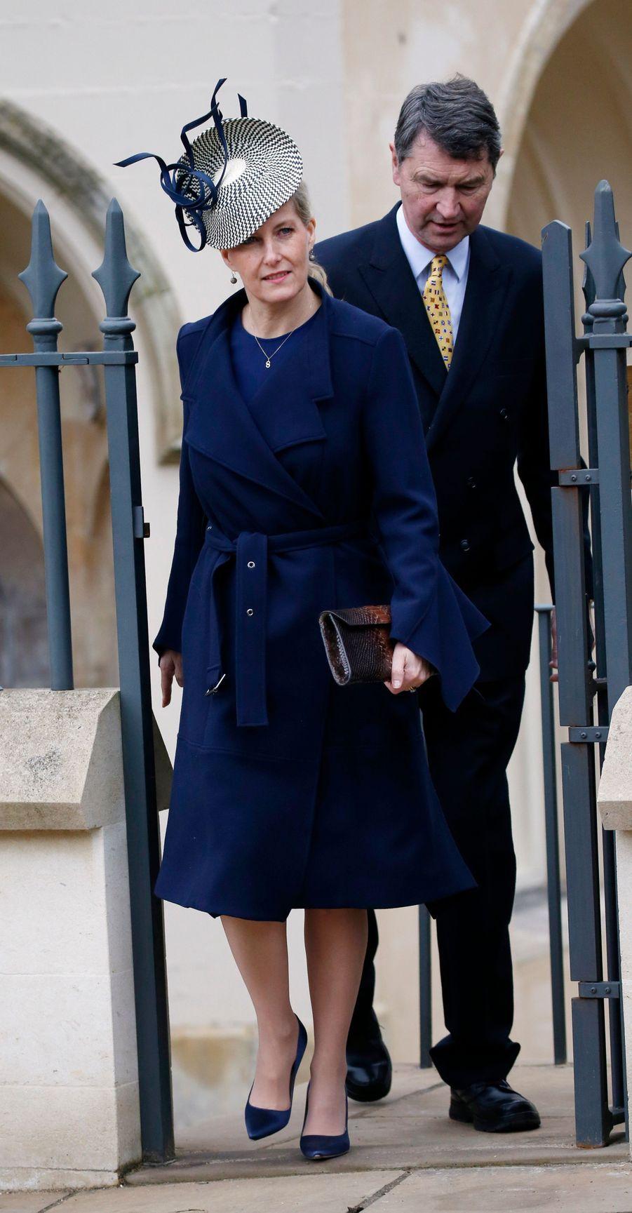 La comtesse Sophie de Wessex à Windsor, le 1er avril 2018