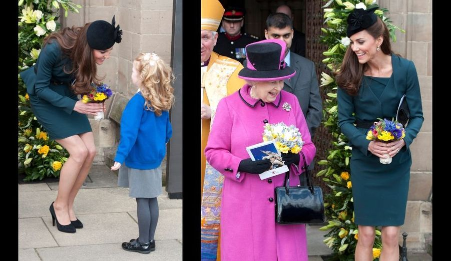 Et un bouquet aussi pour la duchesse ...