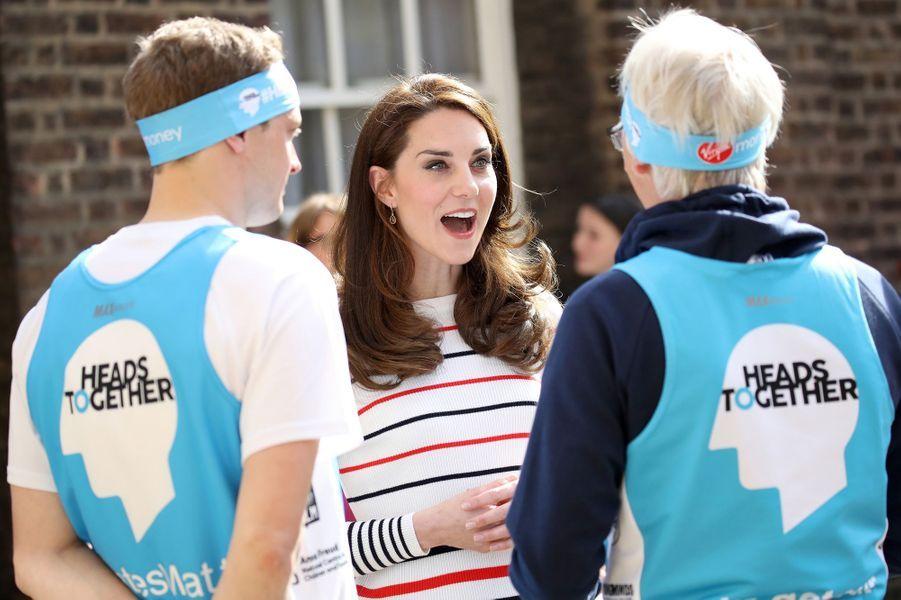Kate Middleton à Kensington Palace à Londres, le 19 avril 2017