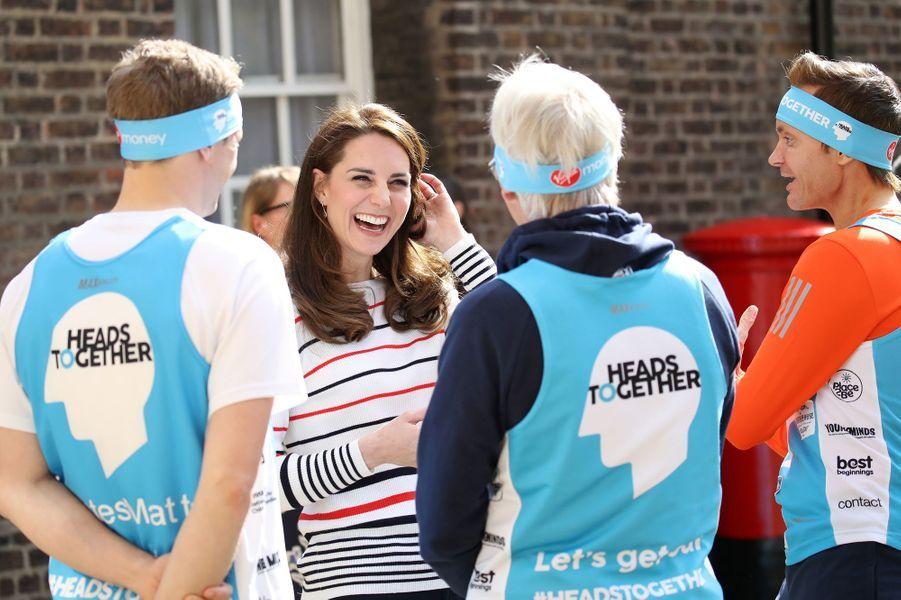 La duchesse Catherine de Cambridge à Londres, le 19 avril 2017