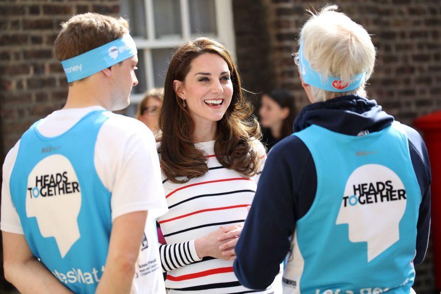 La duchesse de Cambridge, née Kate Middleton à Kensington Palace à Londres, le 19 avril 2017