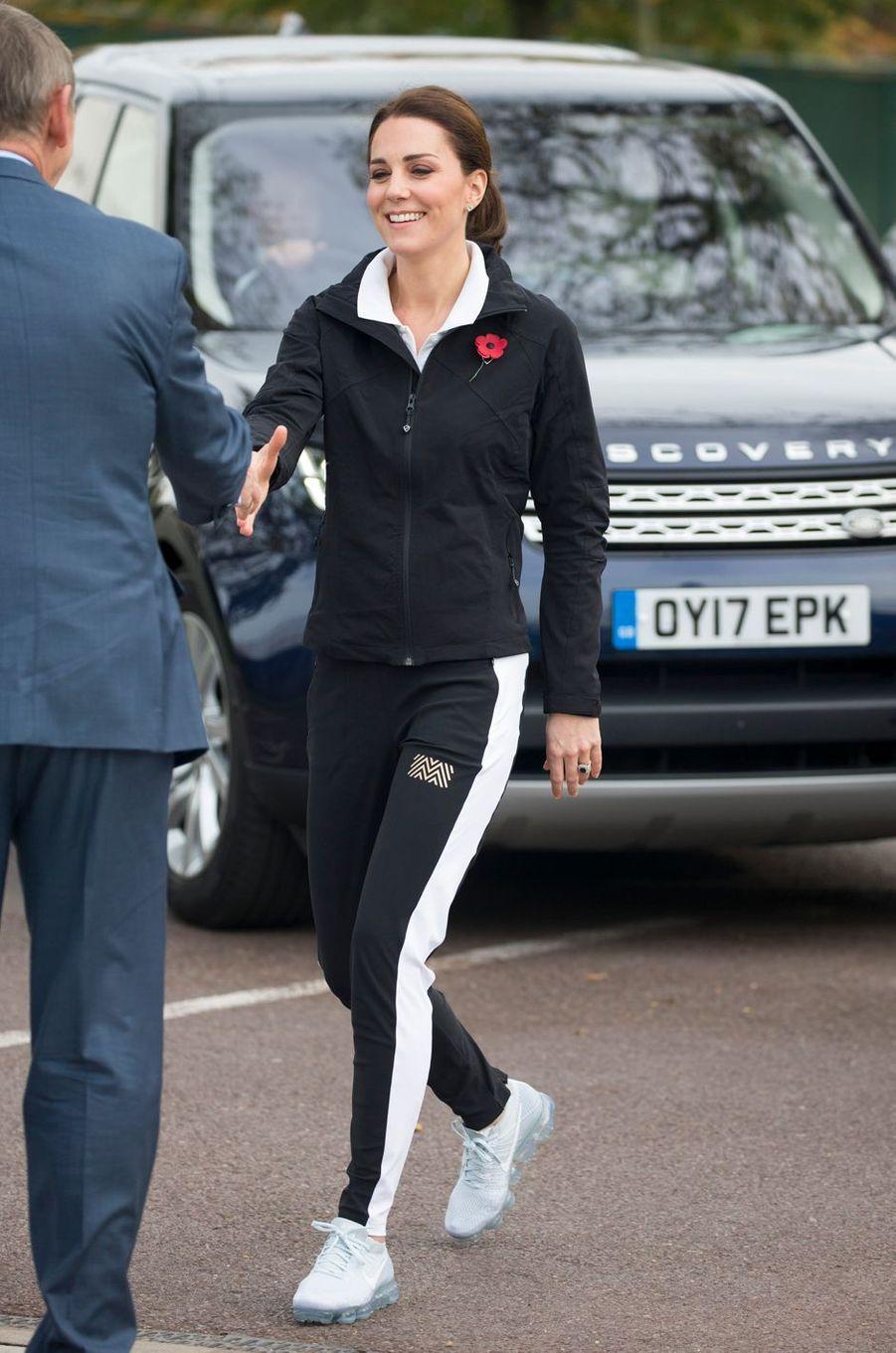 La duchesse de Cambridge au Centre national de tennis à Londres, le 31 octobre 2017