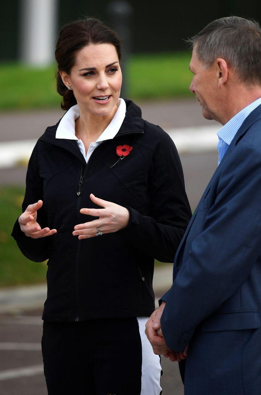 Kate Middleton au Centre national de tennis à Londres, le 31 octobre 2017