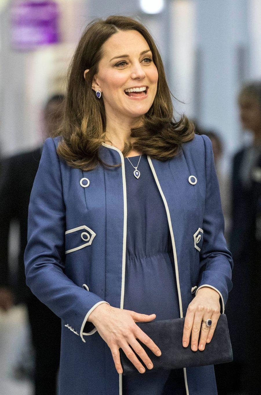 La duchesse Catherine de Cambridge à Londres, le 27 février 2018