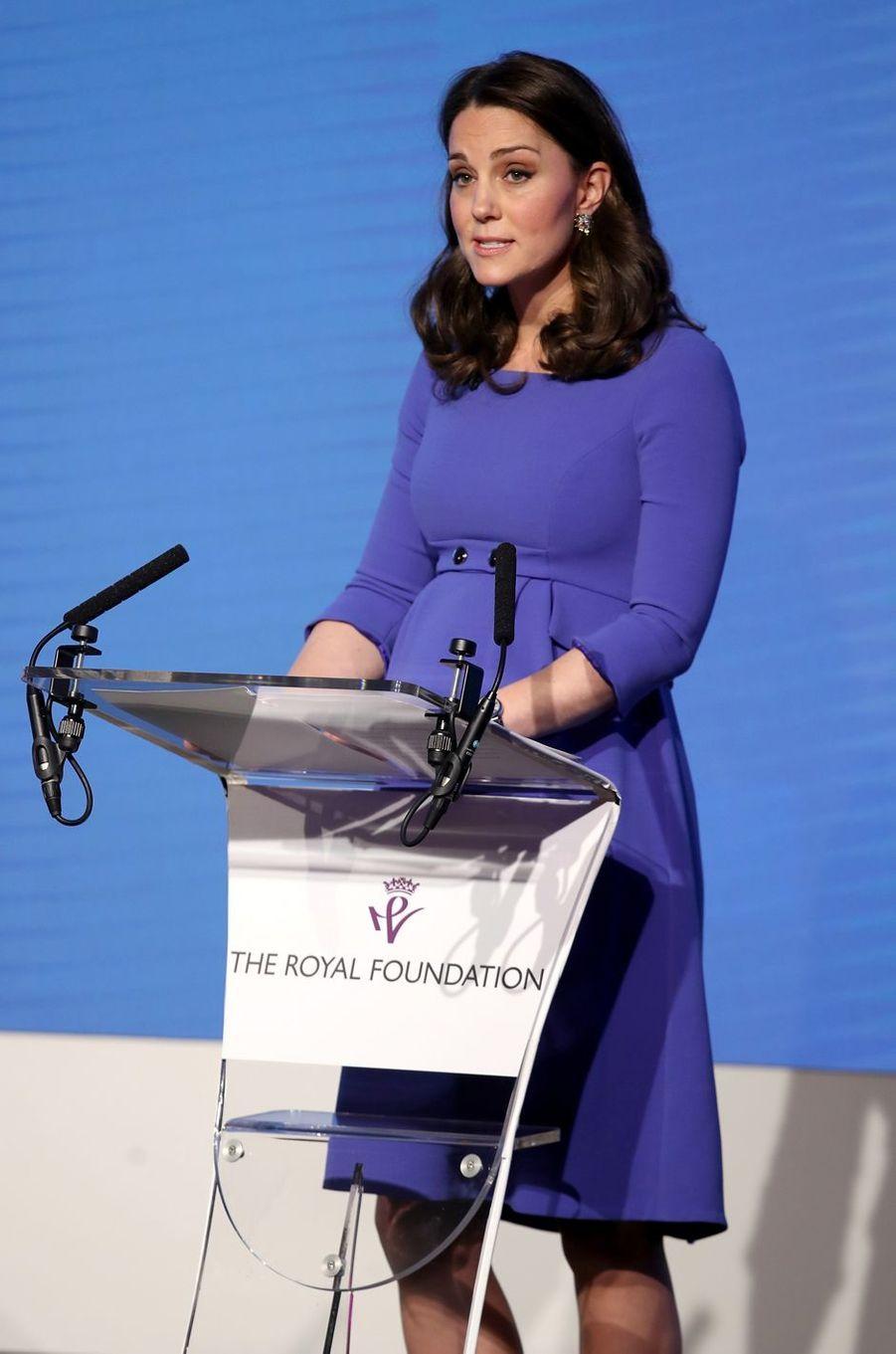 La duchesse Catherine de Cambridge à Londres, le 28 février 2018