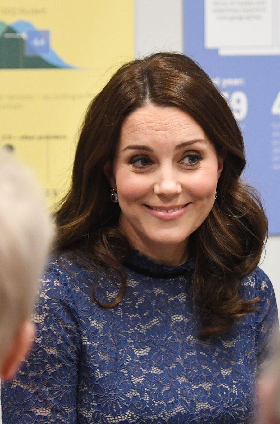 La duchesse Catherine de Cambridge à Londres, le 7 mars 2018