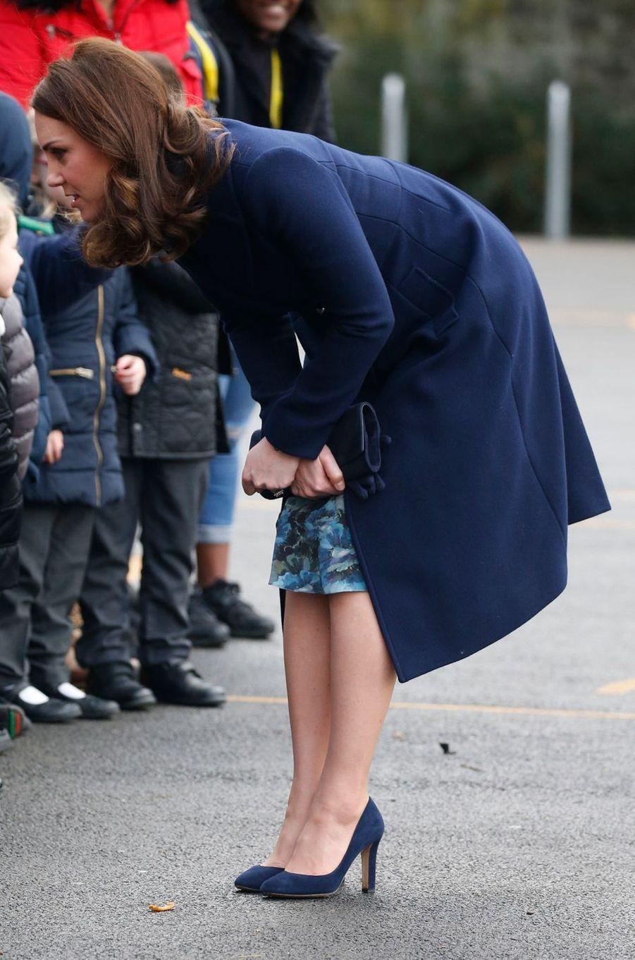 La duchesse de Cambridge, dans une robe Séraphine à Londres, le 10 janvier 2018