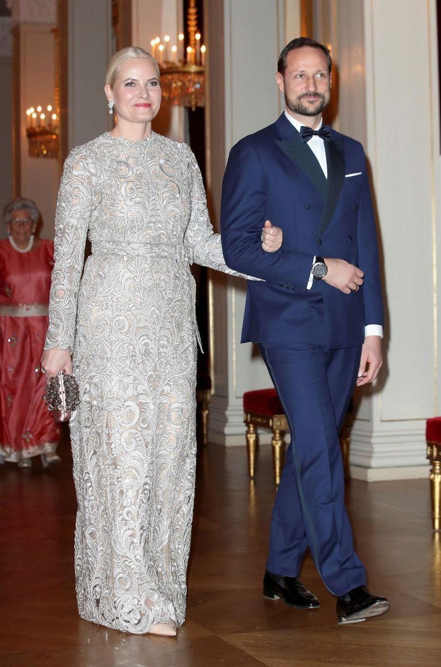 La princesse Mette-Marit et le prince Haakon de Norvège à Oslo, le 1er février 2018