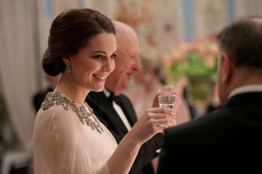 La duchesse Catherine de Cambridge à Oslo, le 1er février 2018