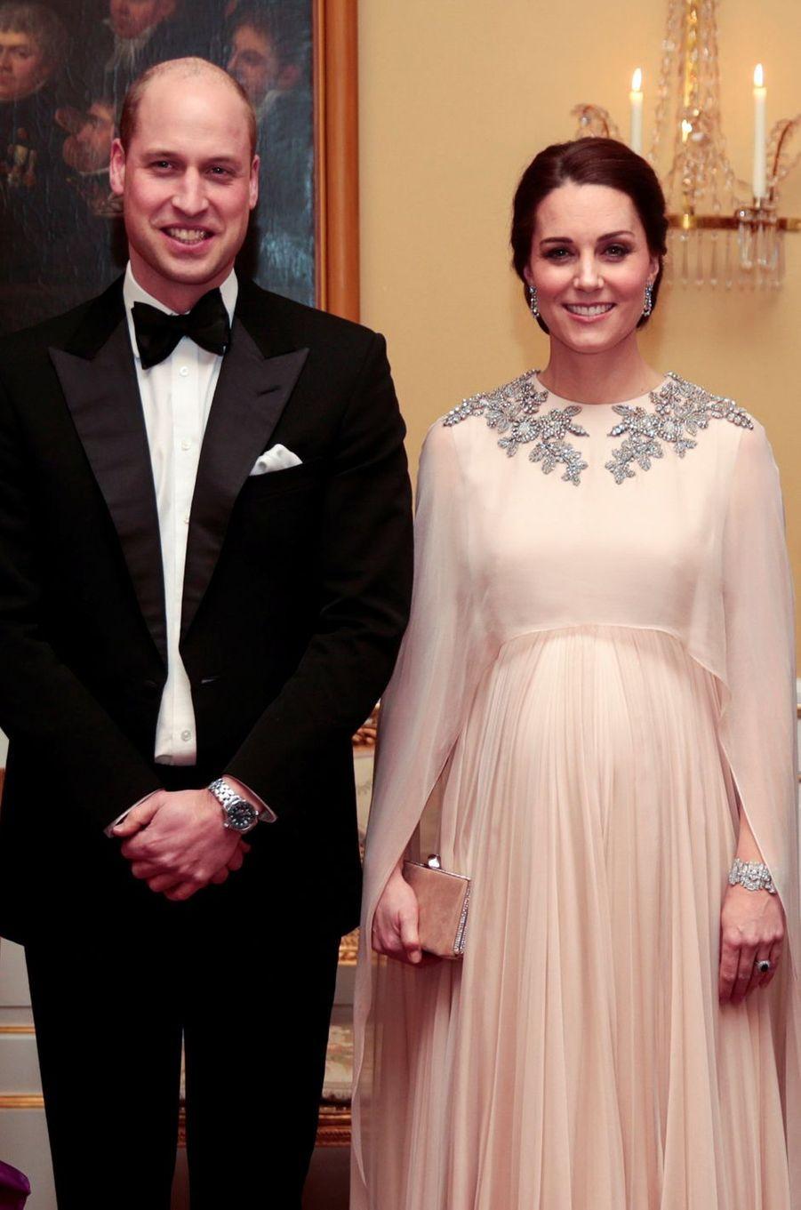 Kate Middleton et le prince William à Oslo, le 1er février 2018