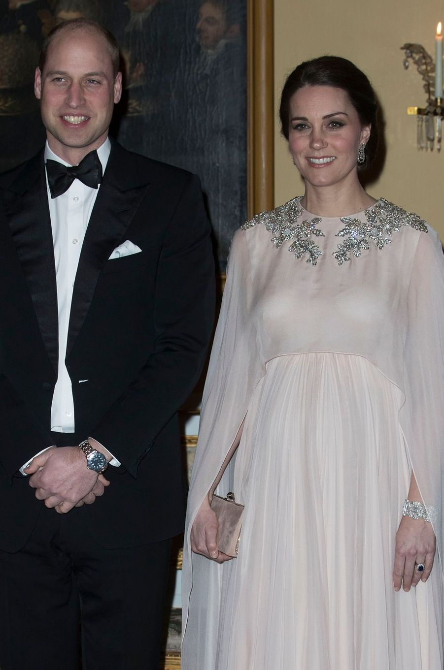 La duchesse Catherine de Cambridge et le prince William à Oslo, le 1er février 2018