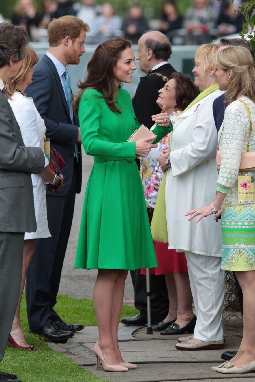 La duchesse Kate au Chelsea Flower Show.