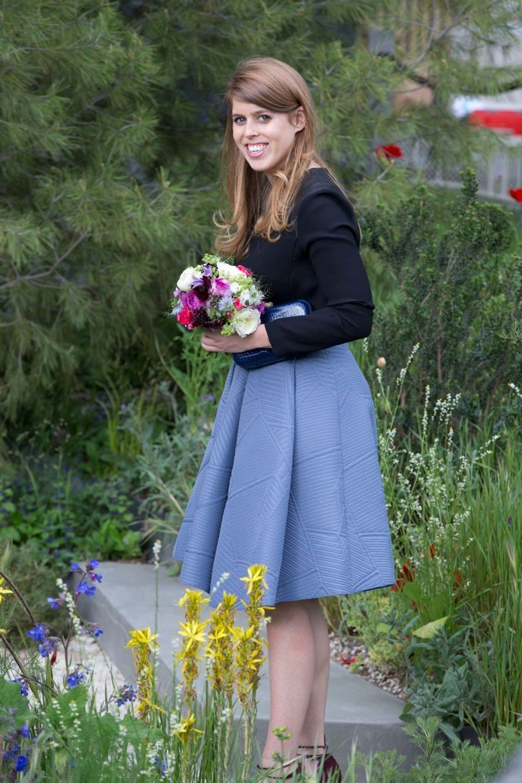 La princesse Beatrice au Chelsea Flower Show.