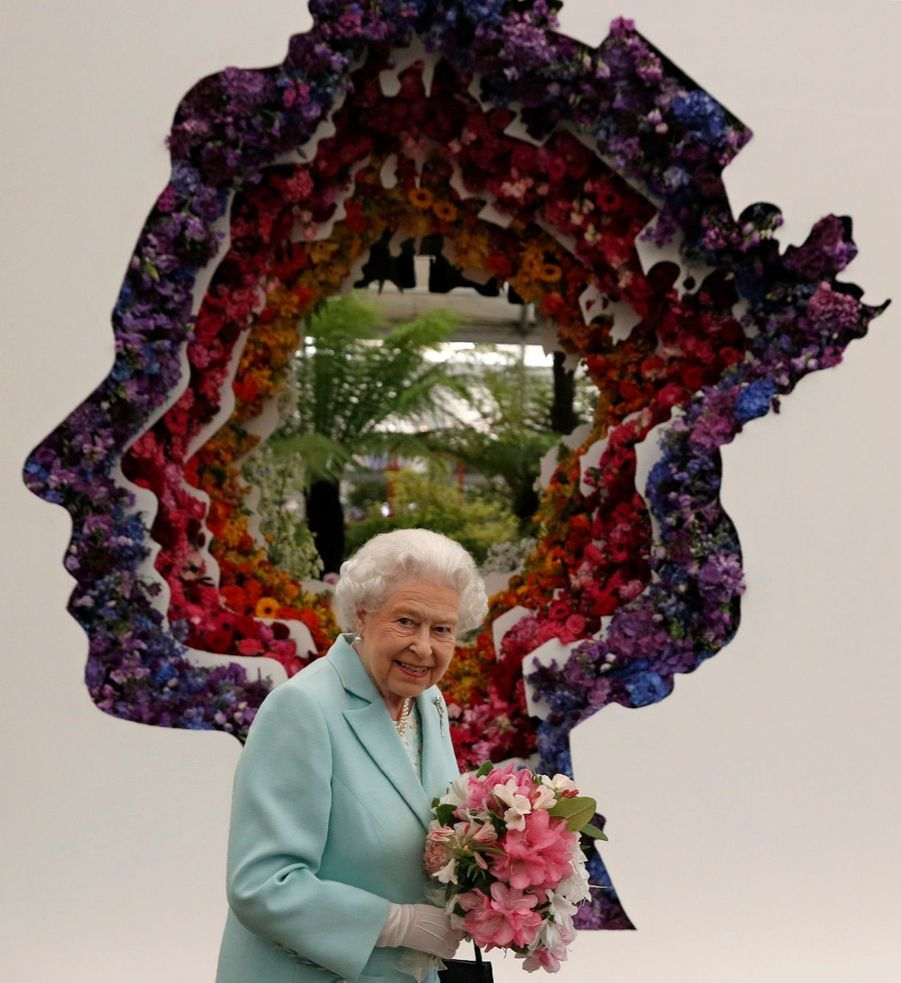 La reine Elizabeth II au Chelsea Flower Show.
