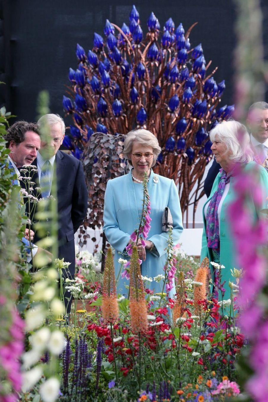 Le duc et la duchesse de Gloucester au Chelsea Flower Show.