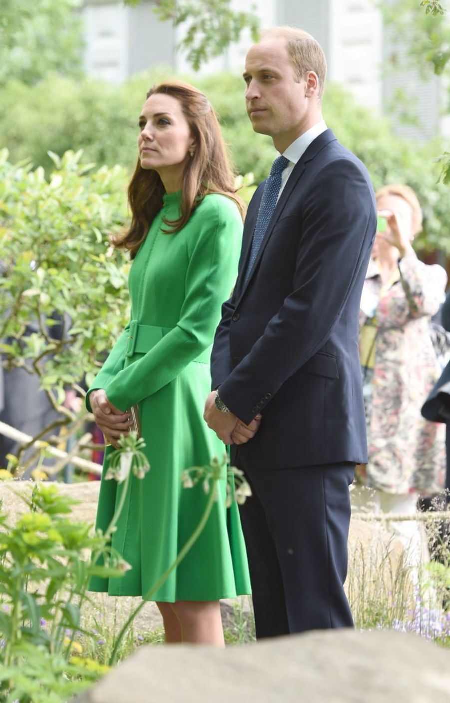 Le prince William et son épouse la duchesse de Cambridge au Chelsea Flower Show.
