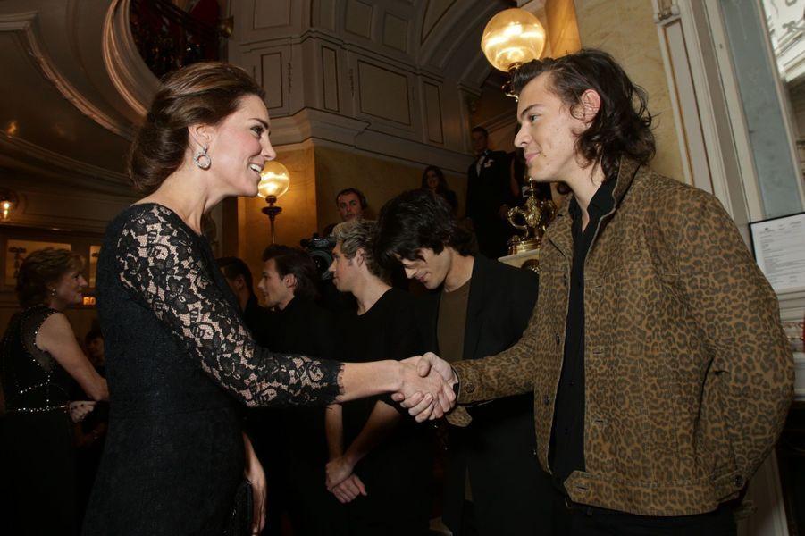 Kate et le prince William au concert des One Direction
