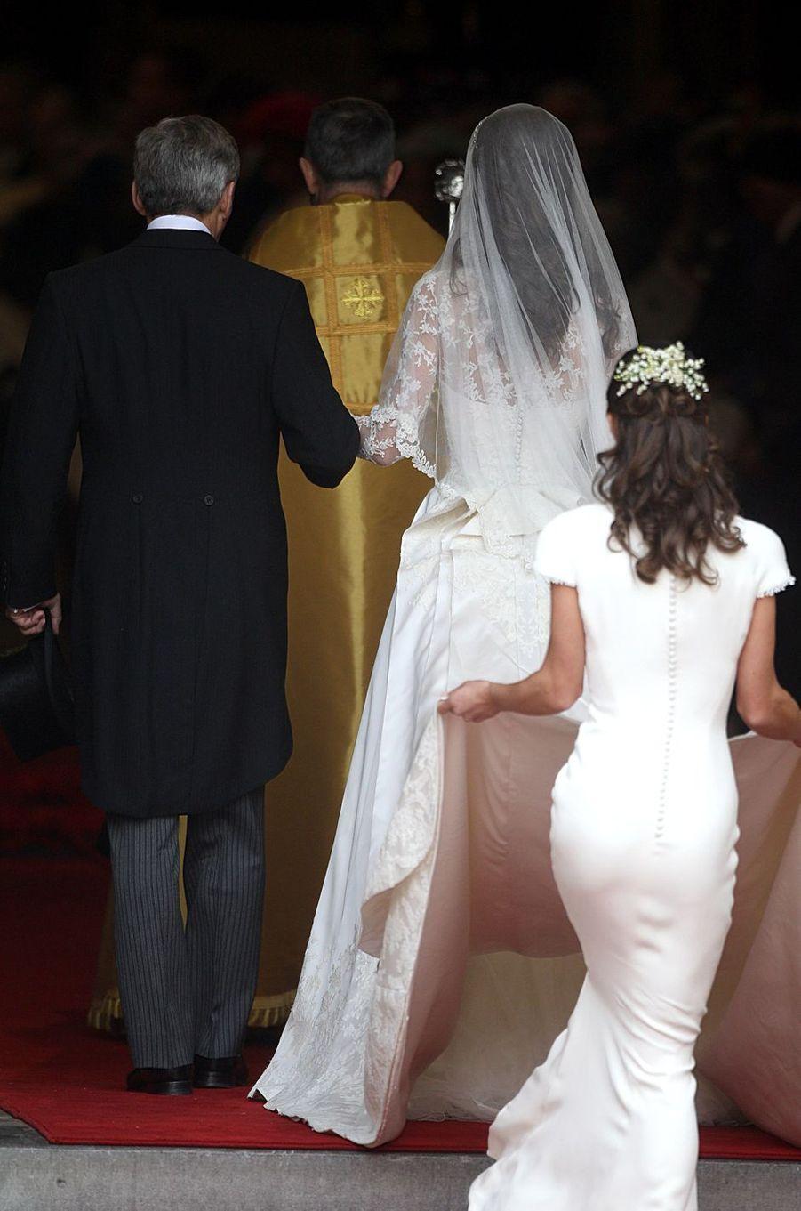 Kate et Pippa Middleton le 29 avril 2011