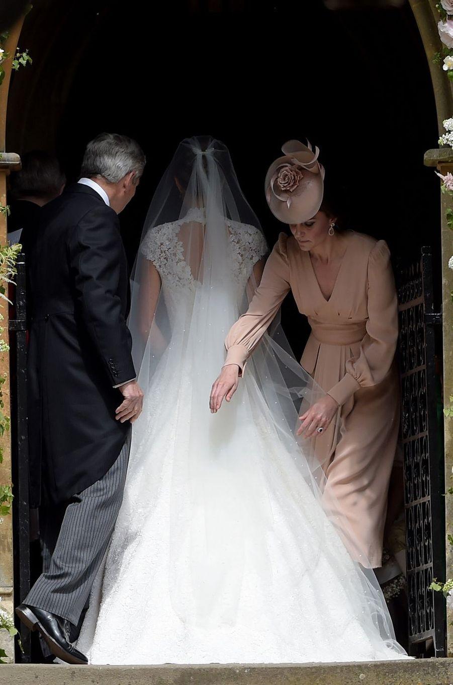 Pippa Middleton avec Kate le 20 mai 2017