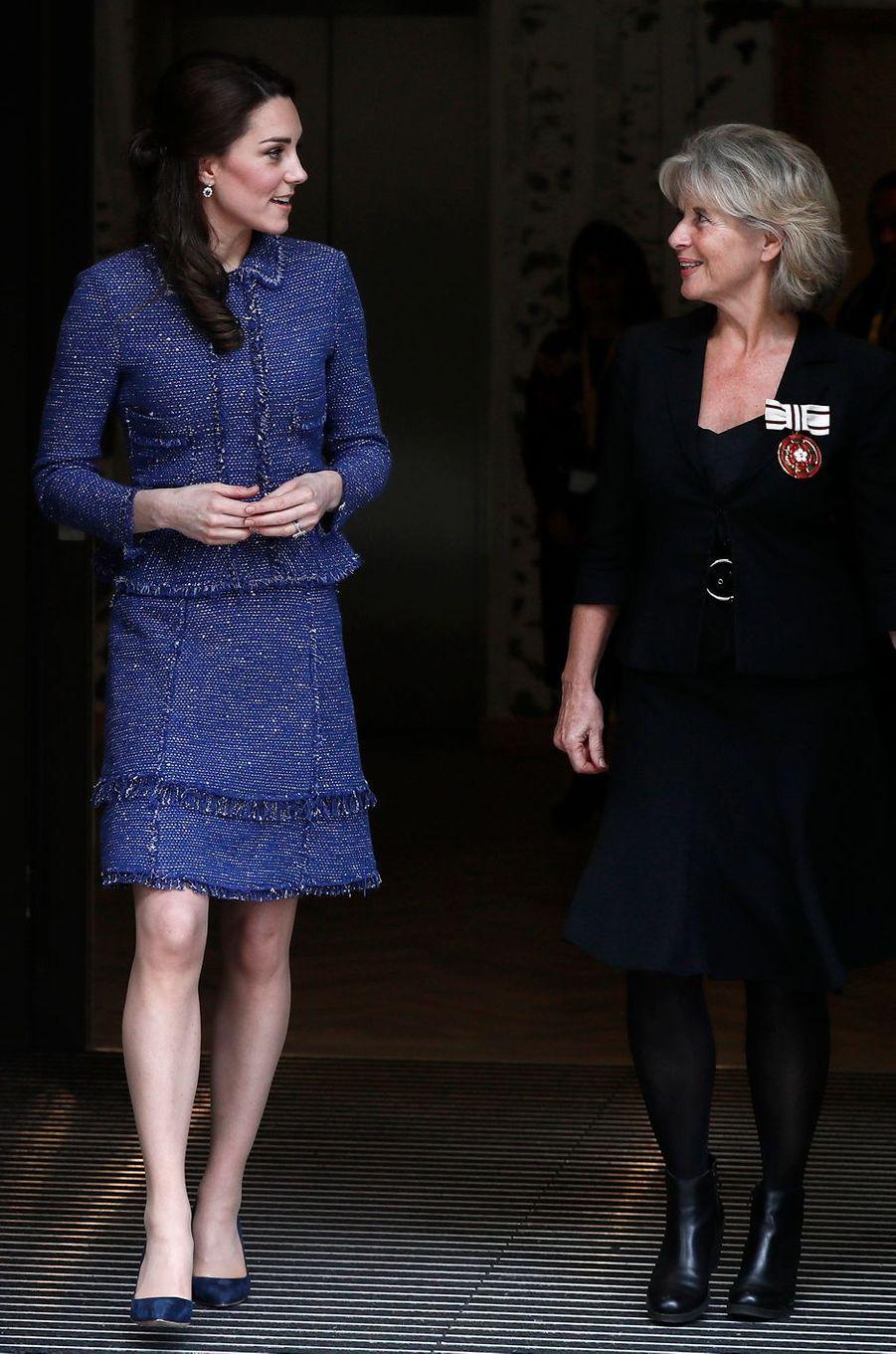 La duchesse de Cambridge née Kate Middleton, le 28 février 2017 à Londres