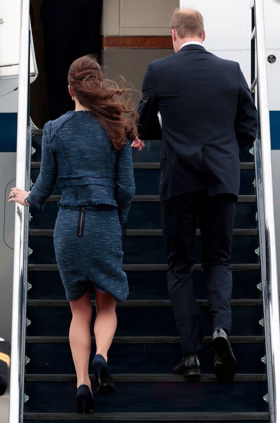 La duchesse de Cambridge née Kate Middleton à Wellington, le 16 avril 2014