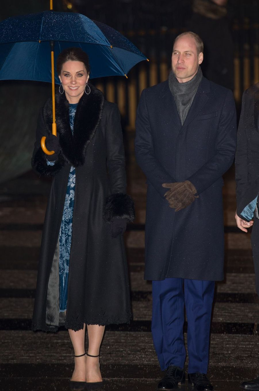 La duchesse Catherine de Cambridge et le prince William à Stockholm, le 31 janvier 2018