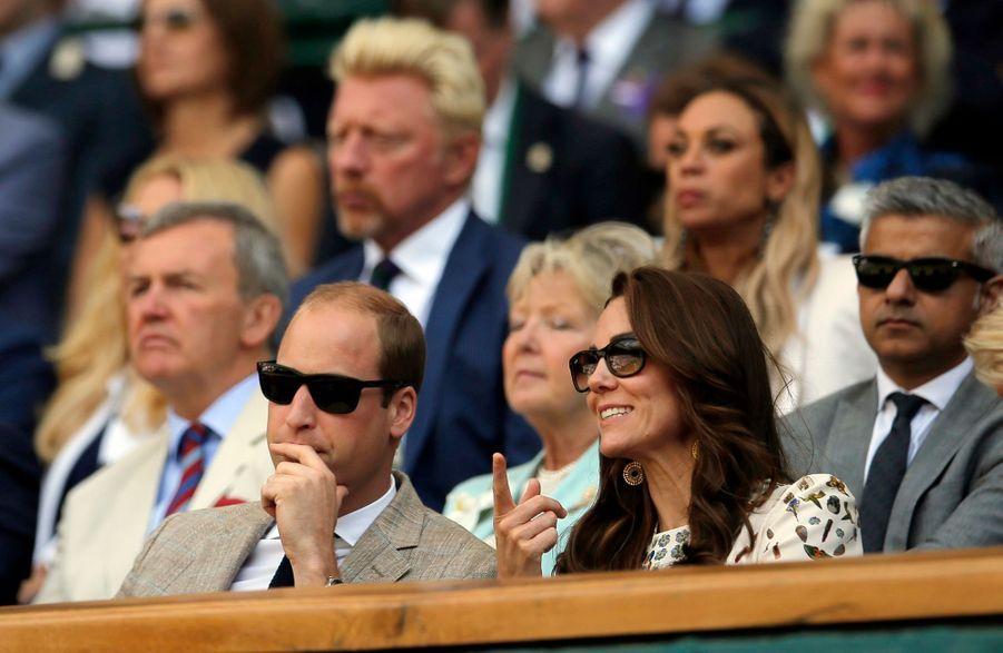 Kate Middleton et le prince William, le 10 juillet 2016