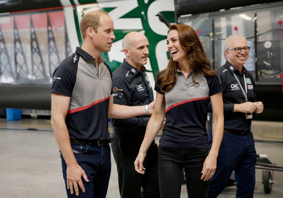 Kate Middleton et le prince William, le 24 juillet 2016