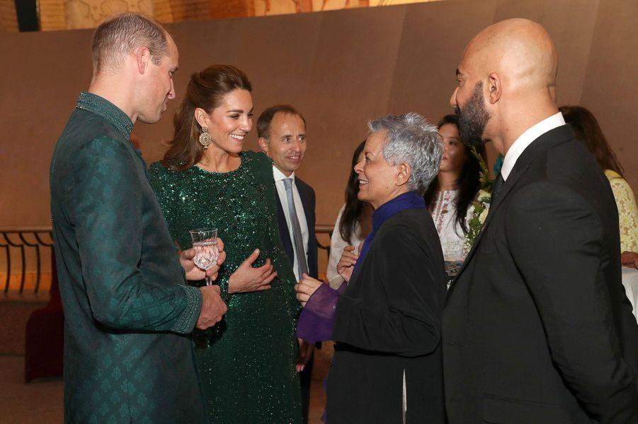 Kate Middleton et le prince Williamau monument du Pakistan à Islamabad le 15 octobre 2019