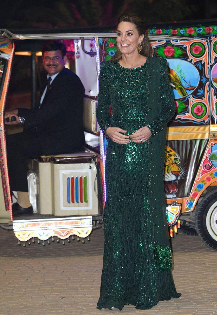 Kate Middletonau monument du Pakistan à Islamabad le 15 octobre 2019
