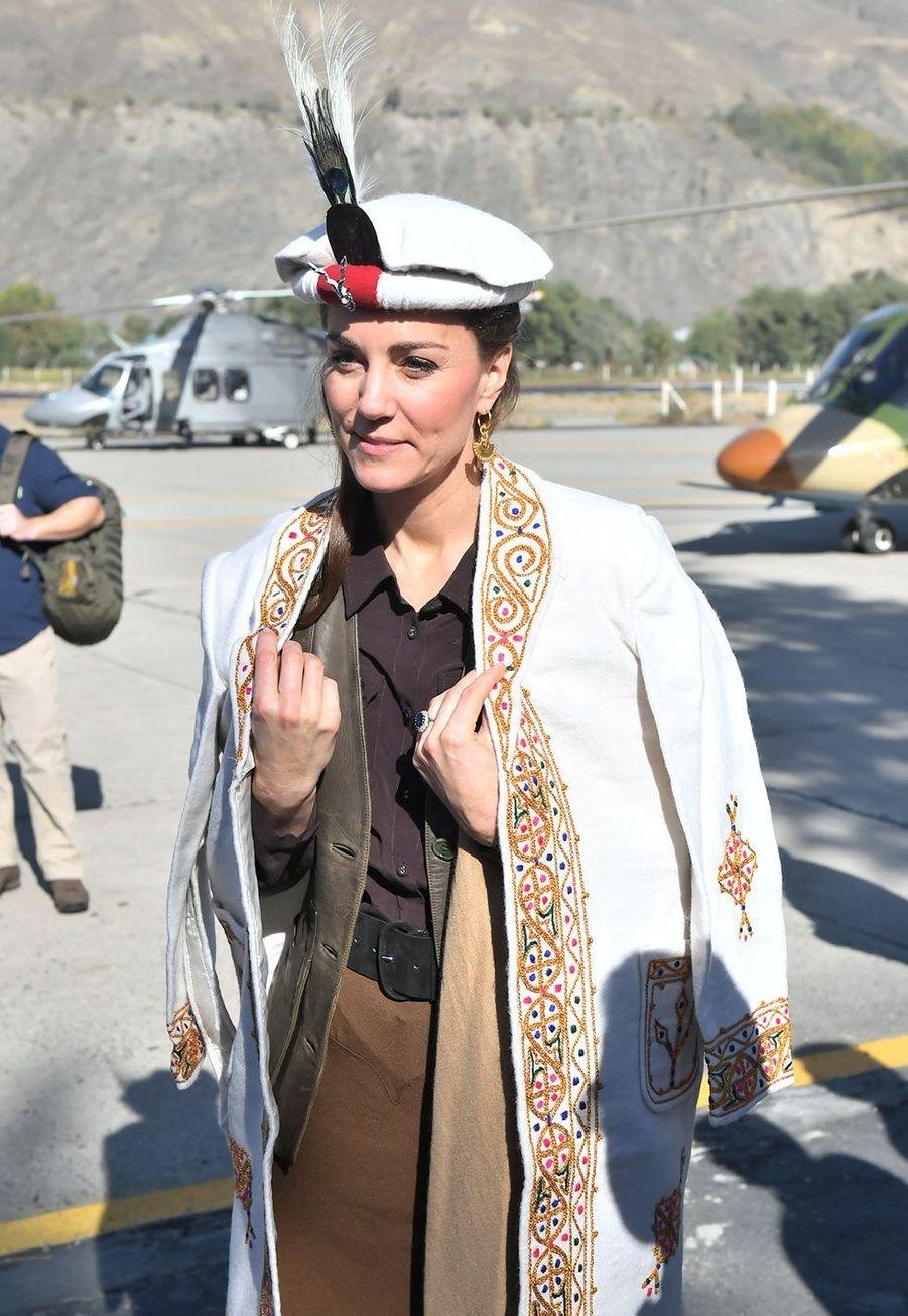 Kate Middletonà Chitral,dans la province de Khyber Pakhtunkhwa au nord du Pakistan, le 16 octobre 2019