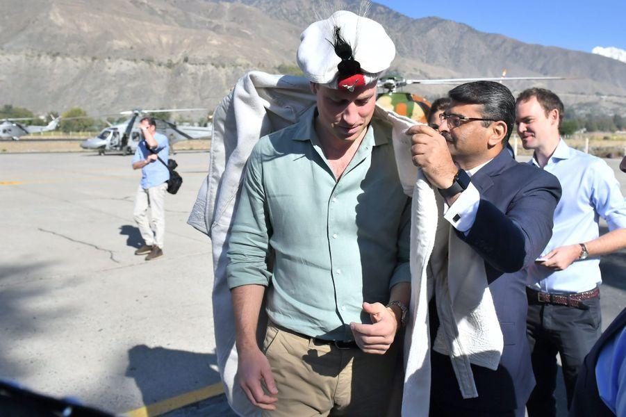 Le prince Williamà Chitral,dans la province de Khyber Pakhtunkhwa au nord du Pakistan, le 16 octobre 2019