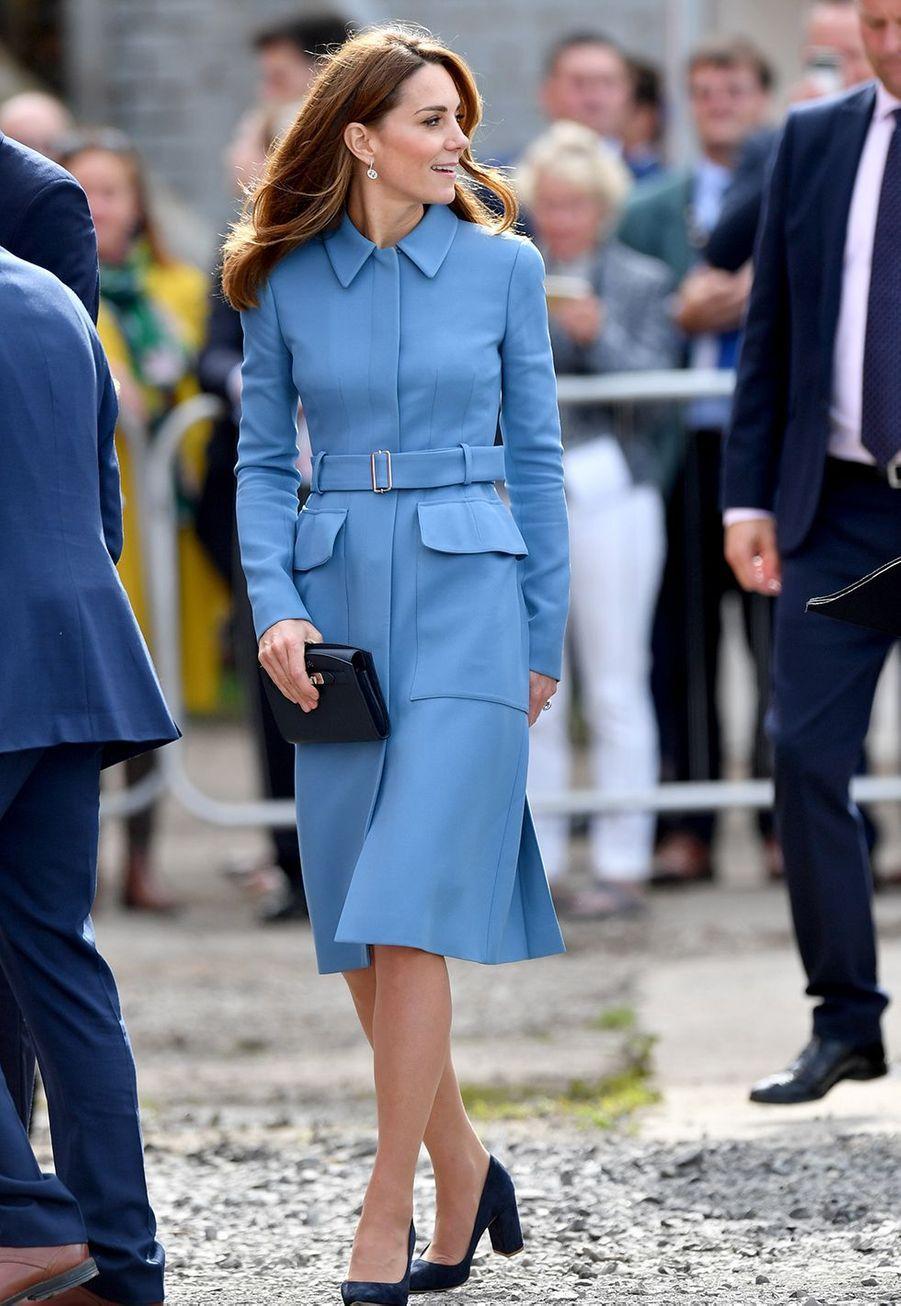Kate Middleton à la cérémonie de baptême du nouveaunavire océanographique, leRRS Sir David Attenborough, àBirkenhead le 26 septembre 2019