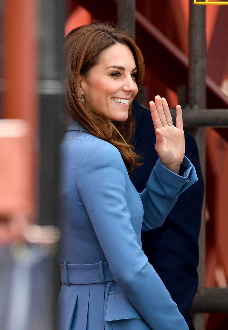 Kate Middletonà la cérémonie de baptême du nouveaunavire océanographique, leRRS Sir David Attenborough, àBirkenhead le 26 septembre 2019