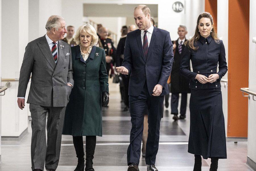 Charles, Camilla, William et KateàLoughborough le 11 février 2020