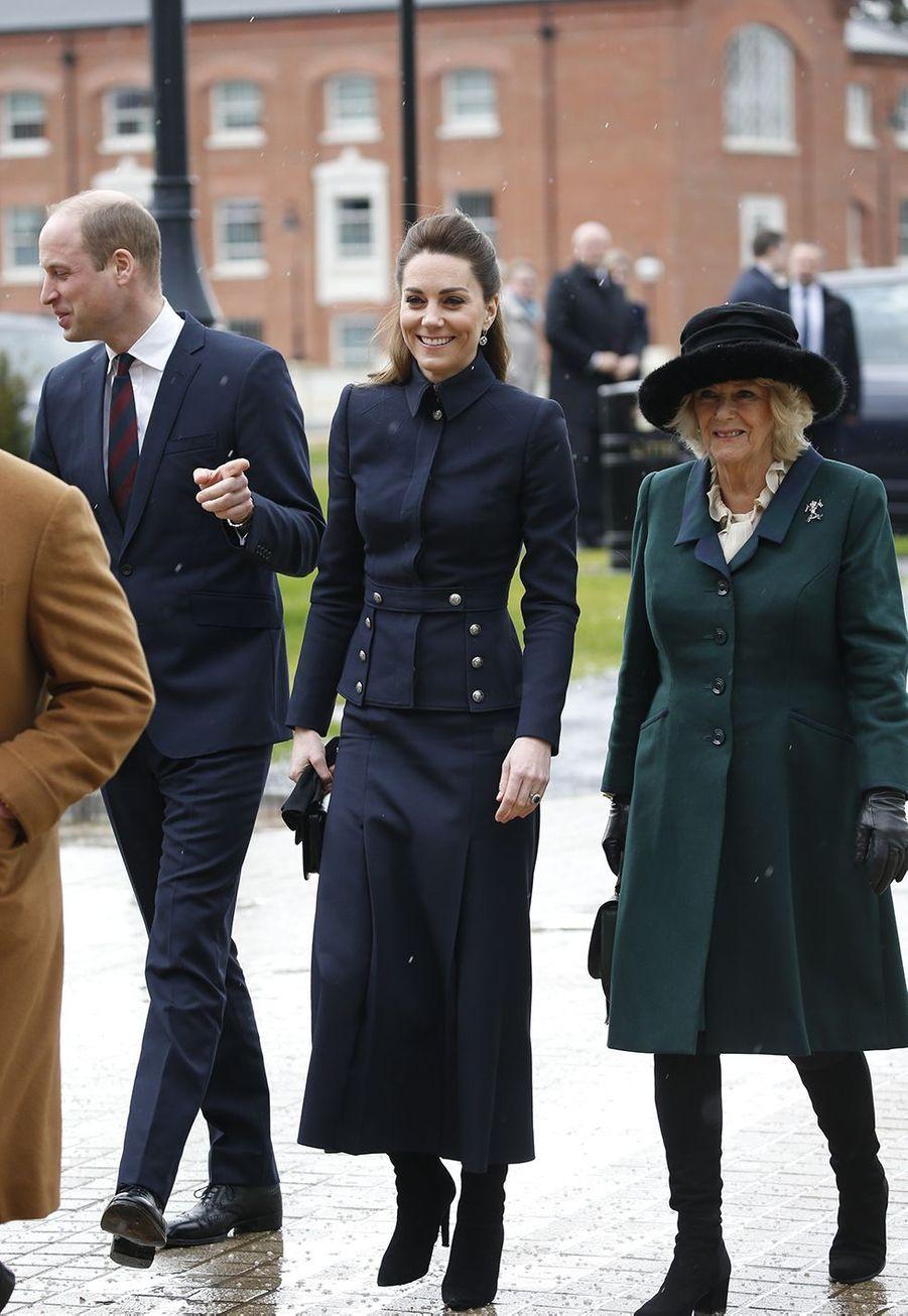 Charles, William, Kate et CamillaàLoughborough le 11 février 2020