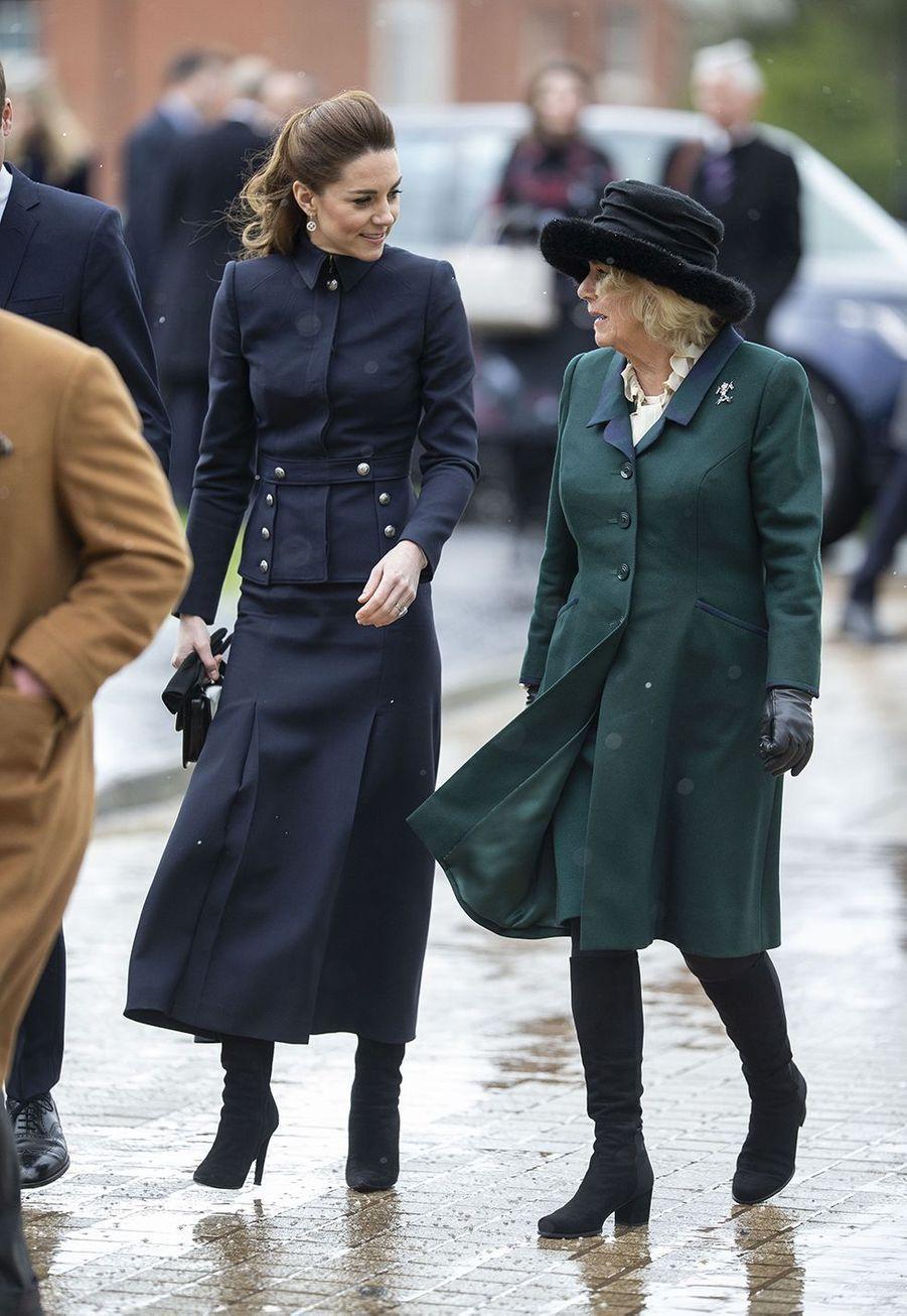 Kate et CamillaàLoughborough le 11 février 2020