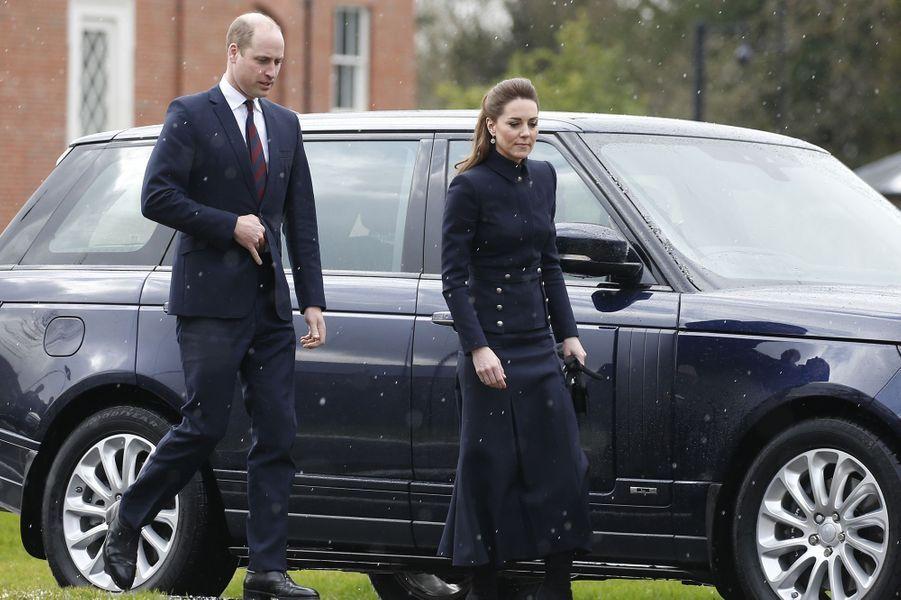 Le prince William et Kate Middleton àLoughborough le 11 février 2020