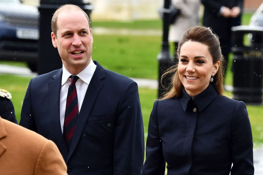 Le prince William et Kate MiddletonàLoughborough le 11 février 2020