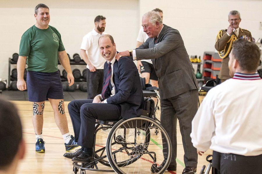 Le prince William et le prince CharlesàLoughborough le 11 février 2020